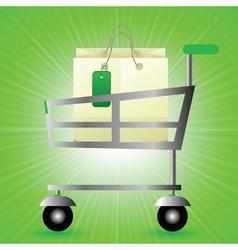 shop basket vector image