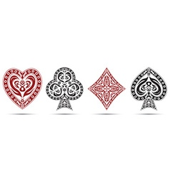 spades hearts diamonds clubs poker cards symbols vector image