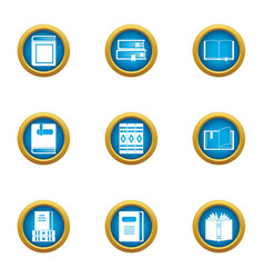 Speculative icons set flat style vector