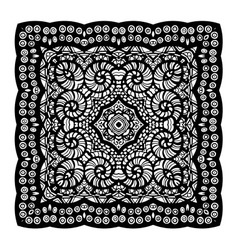 Square mandala Ethnic decorative elements vector
