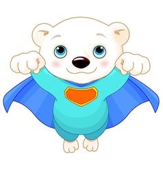 super polar bear vector image