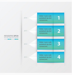 timeline report template blue gradient color vector image