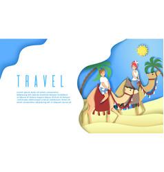 travel web banner website landing page vector image