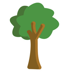 tree hand drawn design on white background vector image