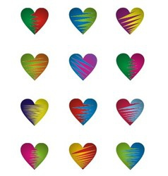 Two Color Heart vector