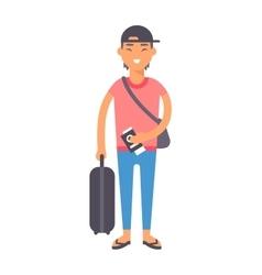 Vacation boy vector image