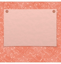 Valentine background with paper vector