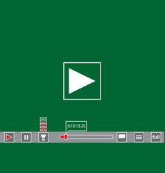 Video player template for web and mobile apps vector