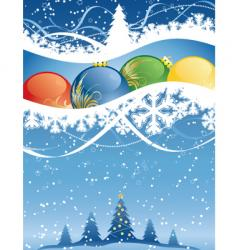 winter decorative vector image