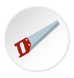 wood saw icon circle vector image