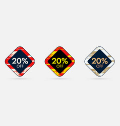 20 off discount sticker 20 off sale and discount vector image