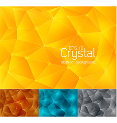 crystal abstract background 2 vector image