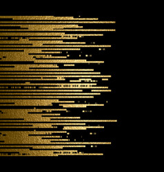 gold texture lines decoration on the black vector image