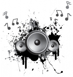speakers playing music vector image vector image