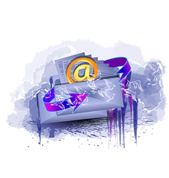 to send a letter vector image
