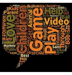 Top video games for children ages text background vector
