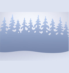 winter forest in the snow flat background vector image