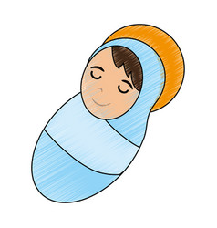 cute baby jesus cartoon vector image vector image