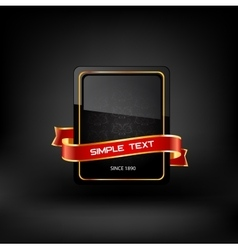 Frame with text on dark background vector image vector image