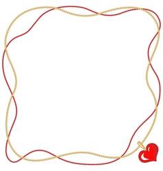 heart pendant vector image vector image