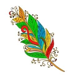 Peerless Decorative Feather Tribal design vector image