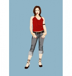 slim girl vector image vector image