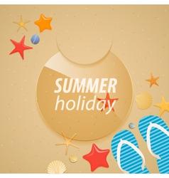 Summer holidays sticker vector image vector image