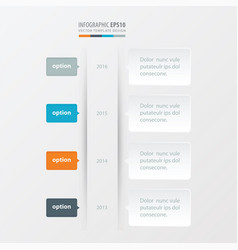 Timeline template orange blue gray color vector