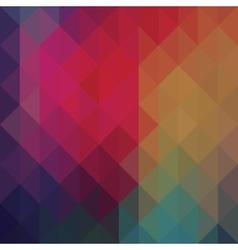 Triangle neon geometric background vector image