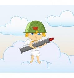 cartoon cupid vector image