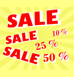 discount sale announcement vector image