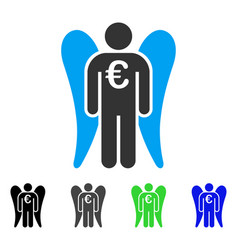 euro angel investor flat icon vector image vector image