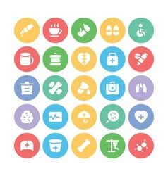 Medical colored icons 10 vector