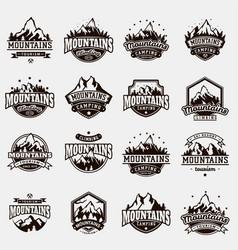 Mountain nature travel outdoor logo badge vector