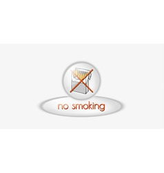 no smoking button vector image