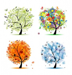 seasons vector image vector image