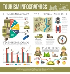 Tourism Infographics Set vector image vector image