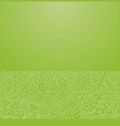 green japanese ornament vector image