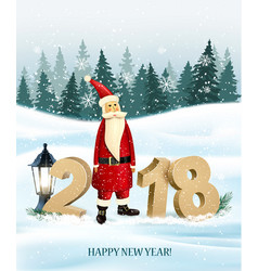 Happy new year 2018 background with presents and vector