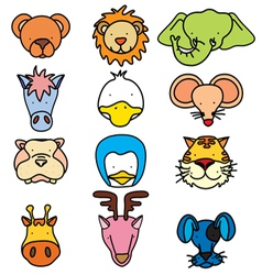 Head animal 1 vector