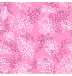 Seamless background with daisy flowers vector image vector image