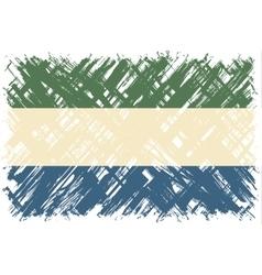 Sierra Leone grunge flag vector image vector image