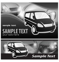 Van background vector image