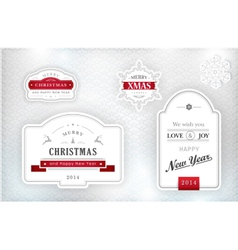 1311015 elegant christmas labels emblems vector