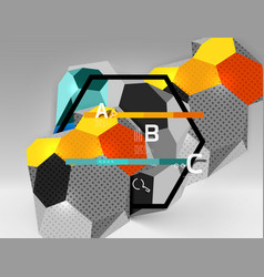 3d hexagon geometric composition geometric vector image