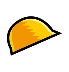 A hat is placed vector