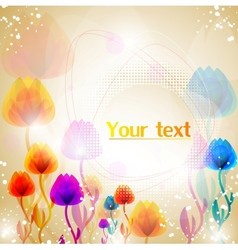 abstract flower background vector image
