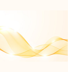 abstract smoky waves background wave flow gold vector image