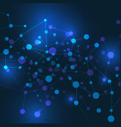 Abstract technology network concept on blue vector