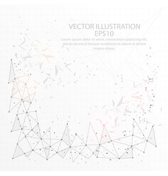 abstract wire frame background low poly vector image